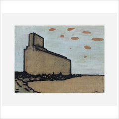 Print - The Great Grain Elevator - Study 1 by Harry Adams