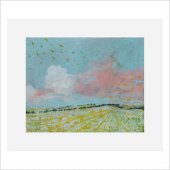 Print - Pink Cloud Over Cultivated Field by Harry Adams