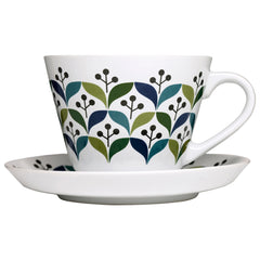 Teacup and Saucer - Retro