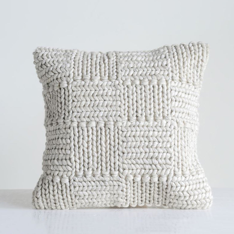 Knit + Wool Pillow