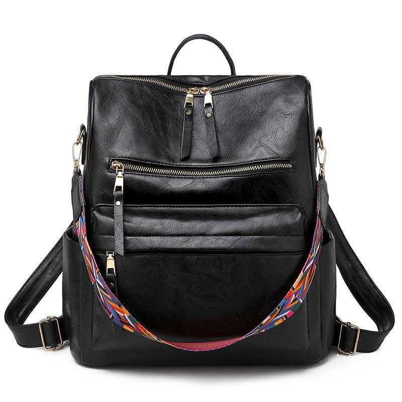 Retro PU Women's Backpack