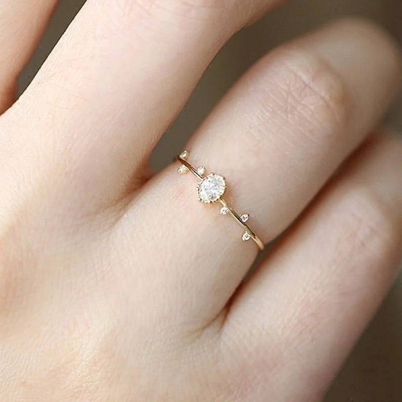 Lovely Leaf Rose Gold Ring
