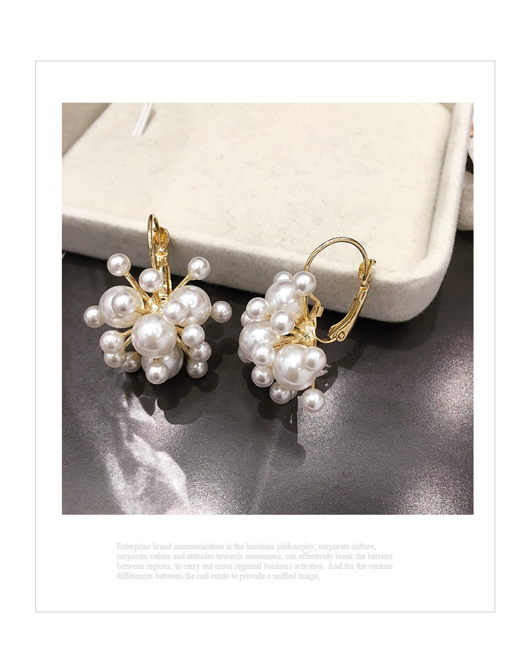Freda Pearl Gold Earrings 80077