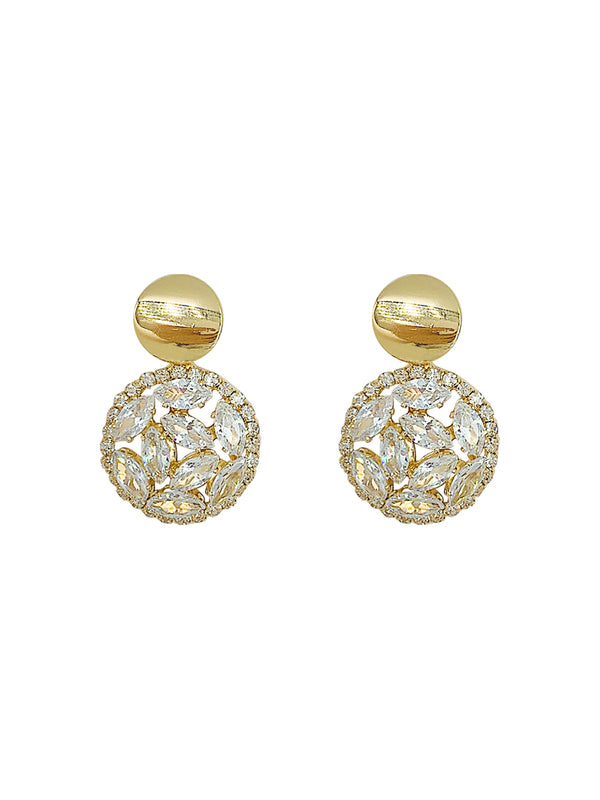 Wallis Hoop Crystal Zircon Earrings