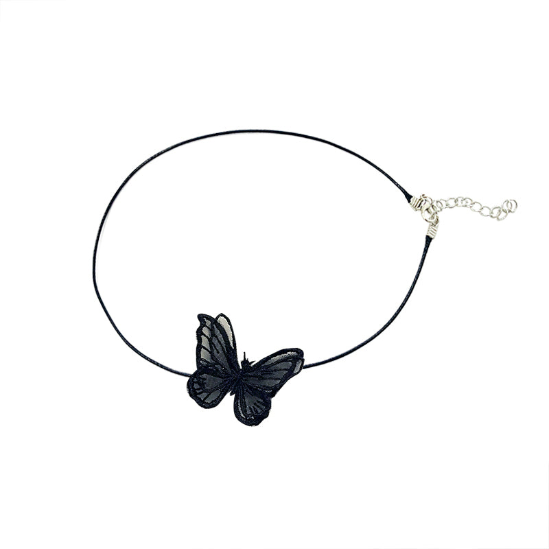 Harriet Butterfly Lace Chocker Necklace 80060