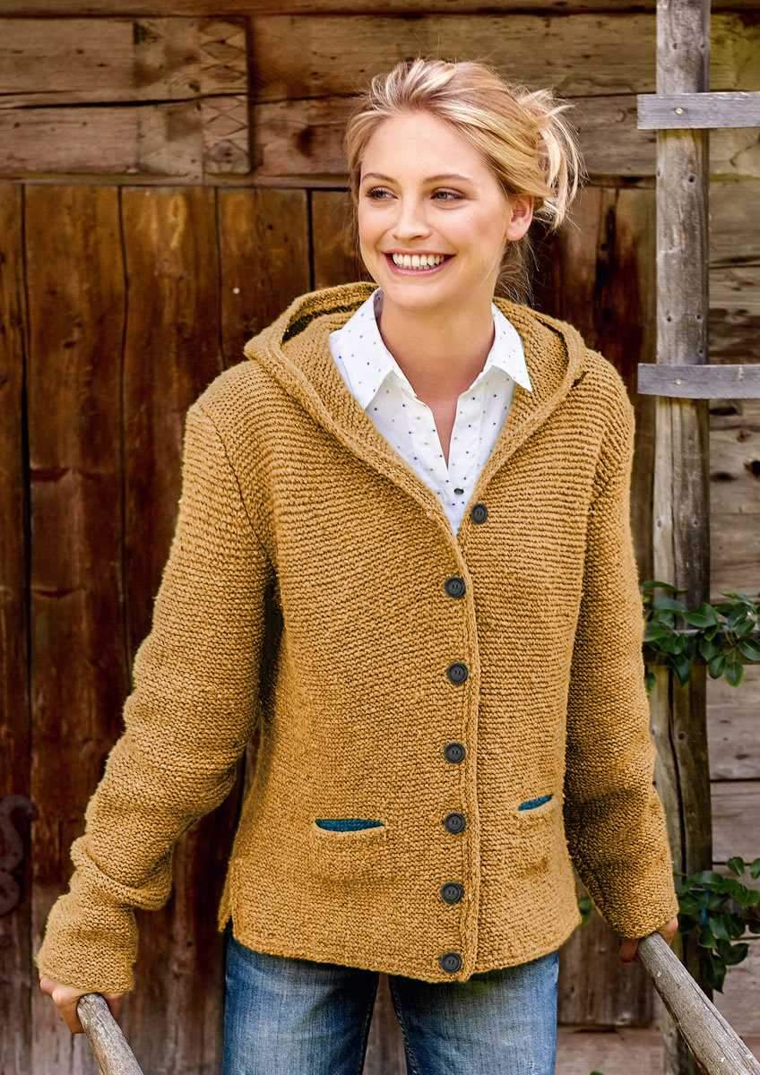 Oversized Knitted Women's Hooded Cardigan Knitted Sweater Jacket with Pocket