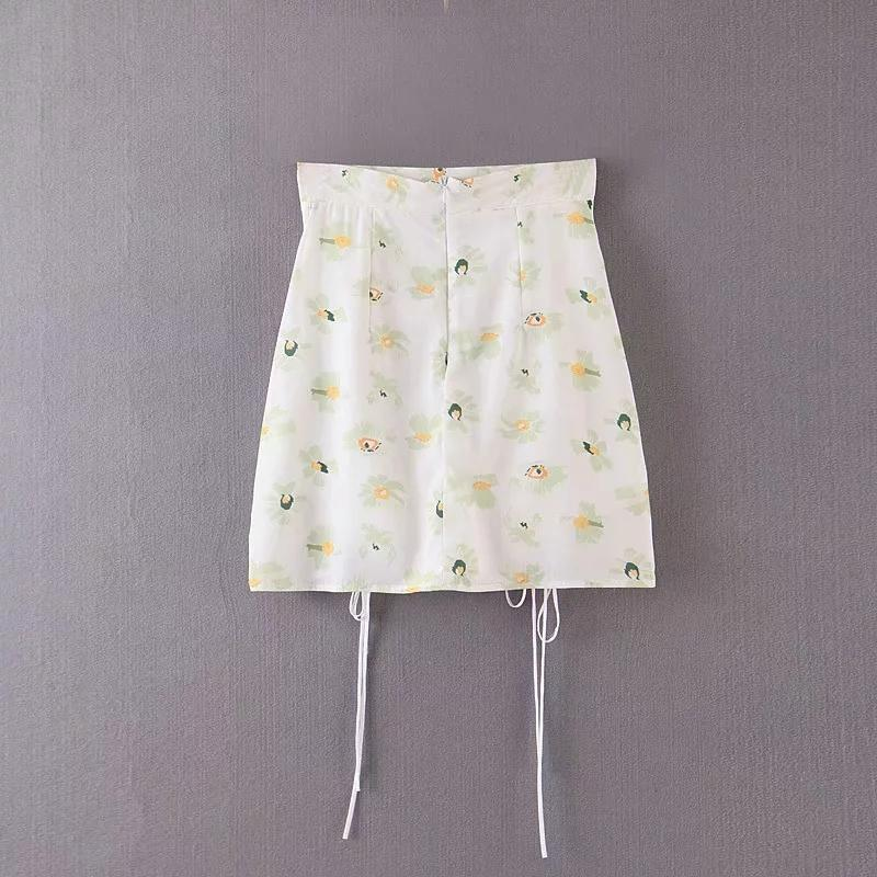 Nicole Drawstring Mini Skirt