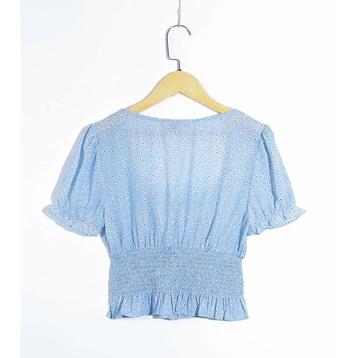 Renata Shirred Puff Sleeve Top