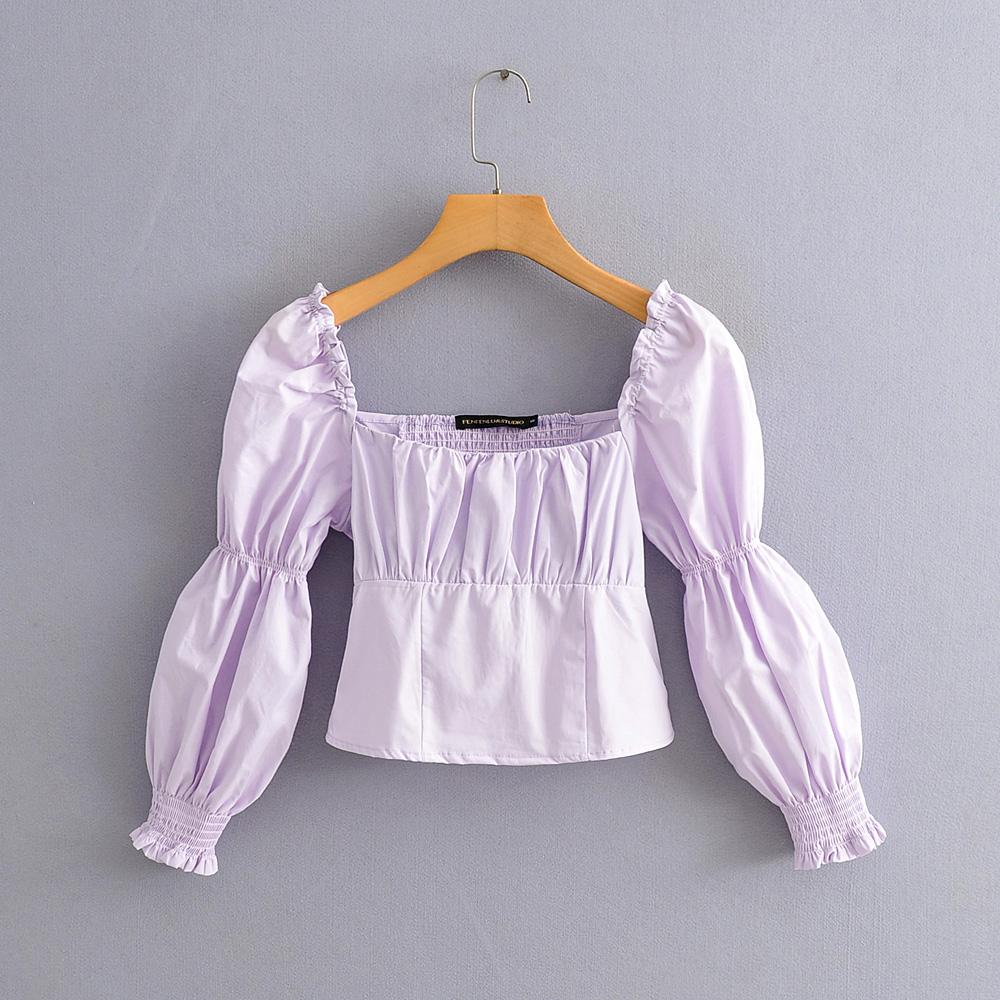 Angelica Shirred Puff Sleeve Top
