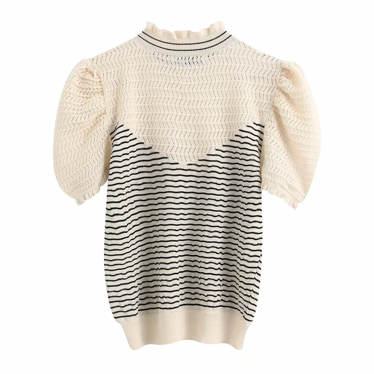 Mae Knit Puff Sleeve Top
