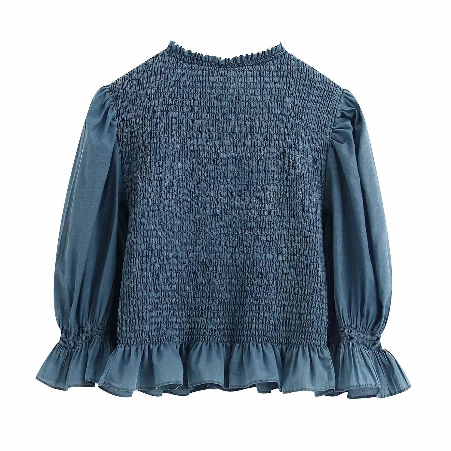 Audrey Shirred Puff Sleeve Top