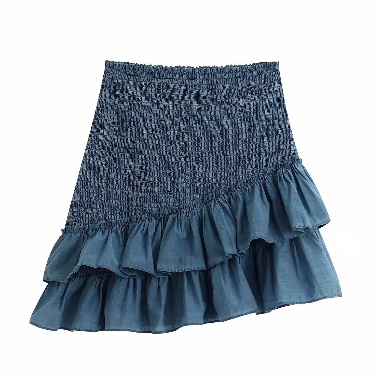 Audrey Shirred Ruffle Skirt