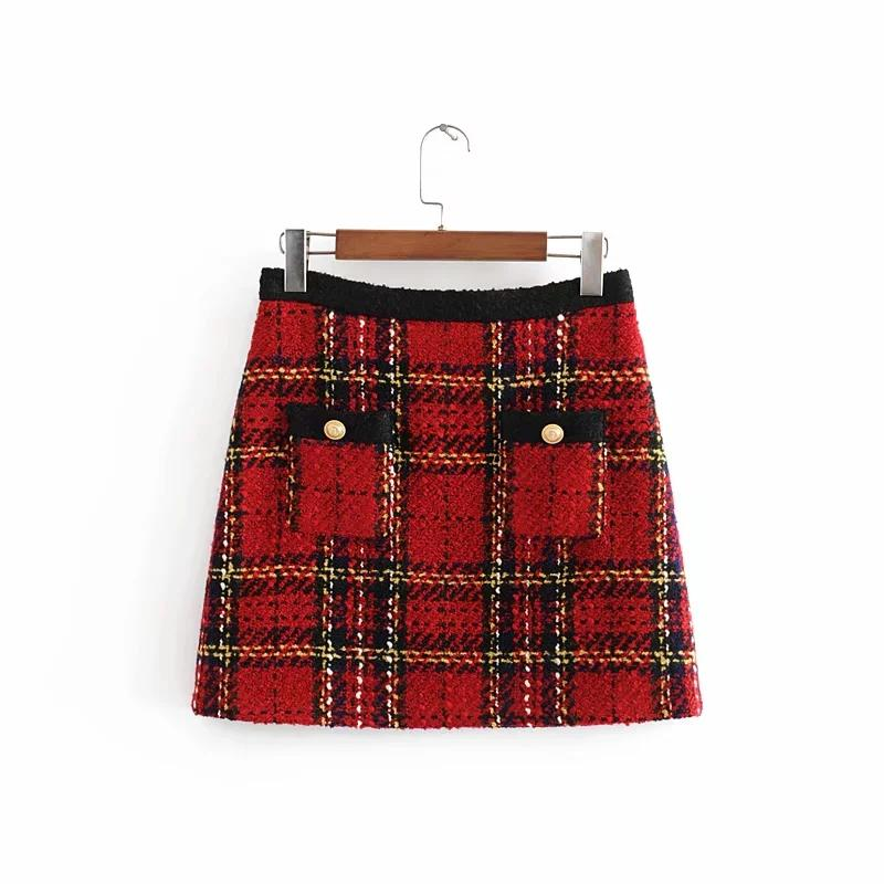 Ayla Plaid Skirt