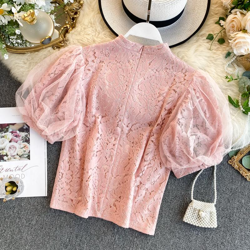 Emersyn Puff Sleeve Lace Top