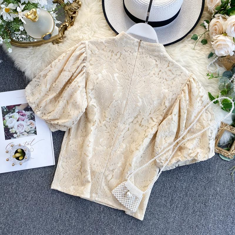 Alyssa Puff Sleeve Lace Top