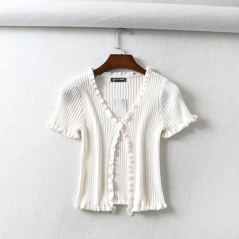 Laney Button Front Knit Top