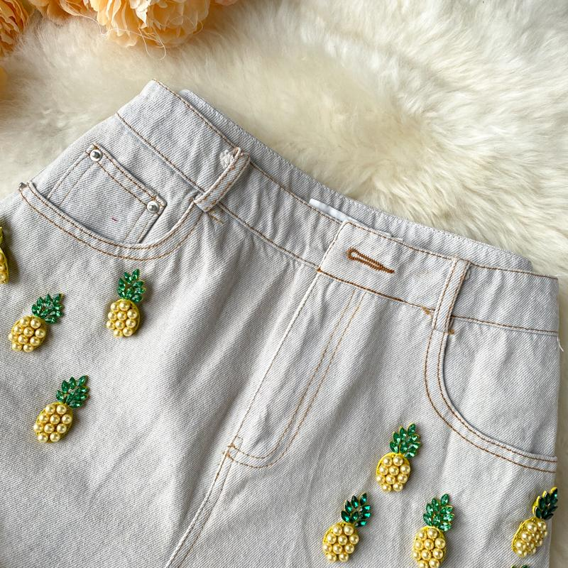 Dana Denim Pineapple Shorts