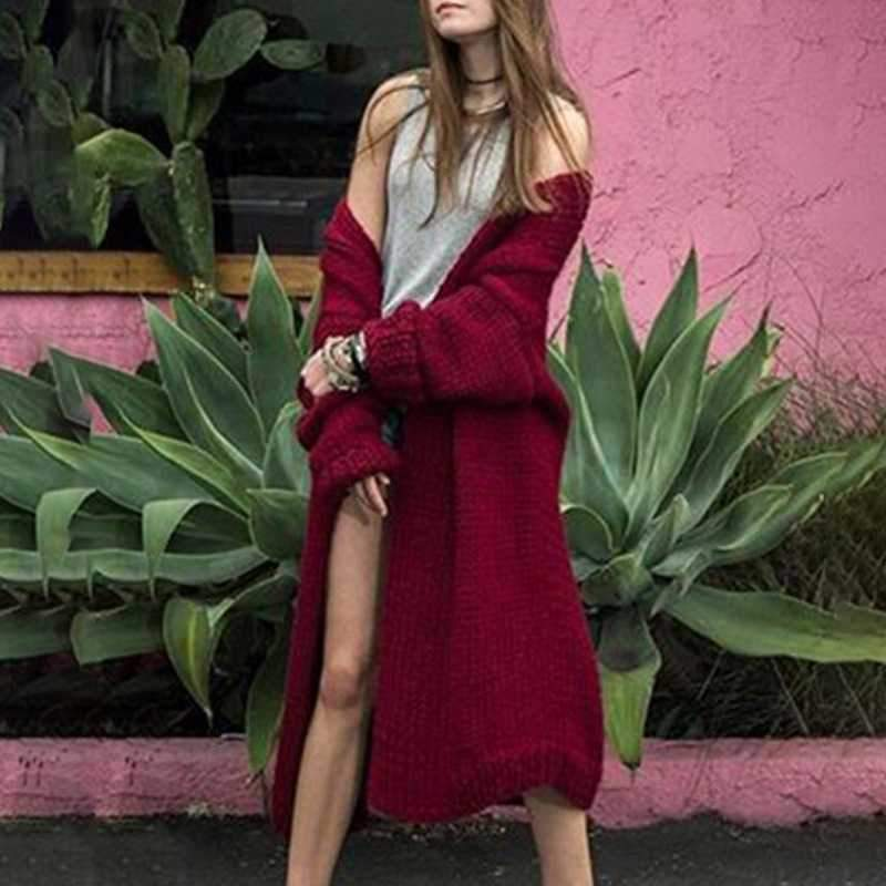 Oversized Open Front Womens Long Cardigan Sweaters