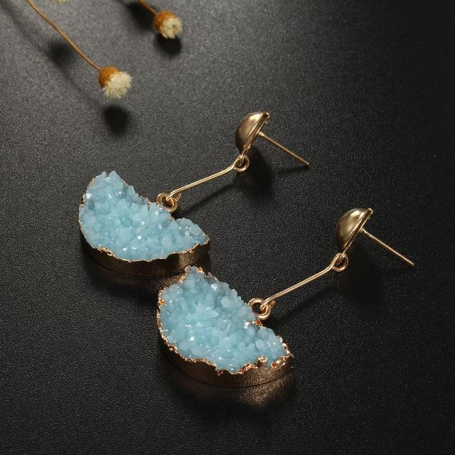 Art Deco Druzy Earrings