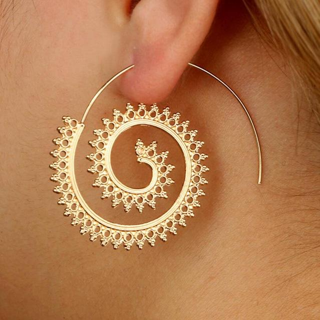 Henna Hoops Earrings