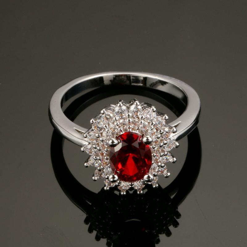 Garnet January Birthsone ring