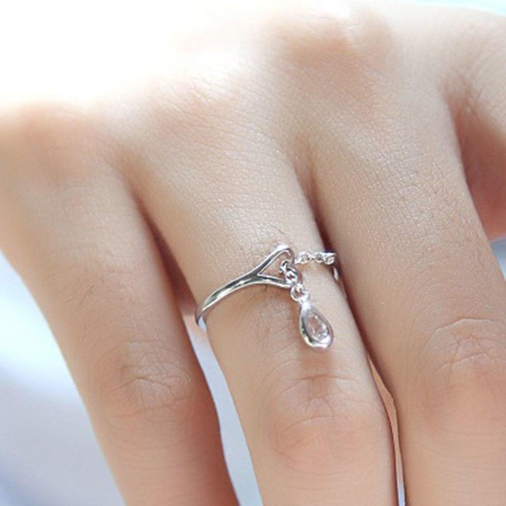 Dainty Drop Ring