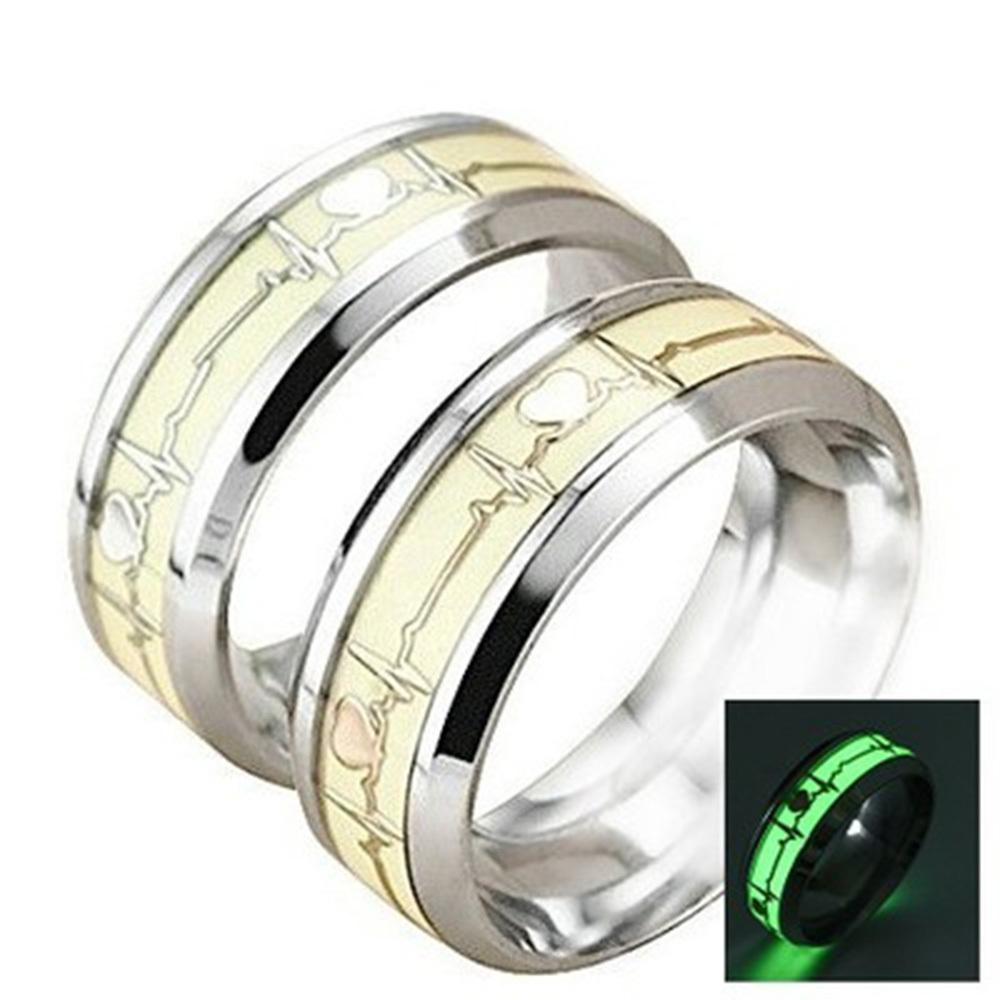 Glow In The Dark Heartbeat Ring