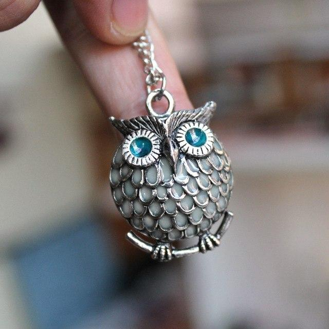 Midnight Owl: Luminous Necklace