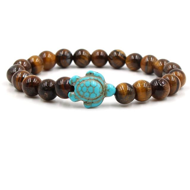 Stone Bead Sea Turtle Bracelet