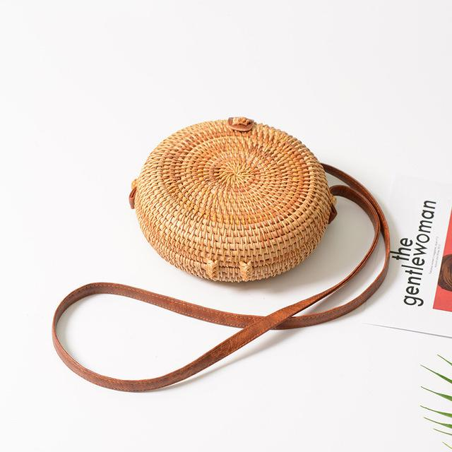 Woven Straw Shoulder Bag