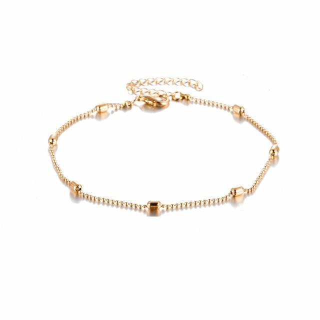 Simple Heart Female Anklets