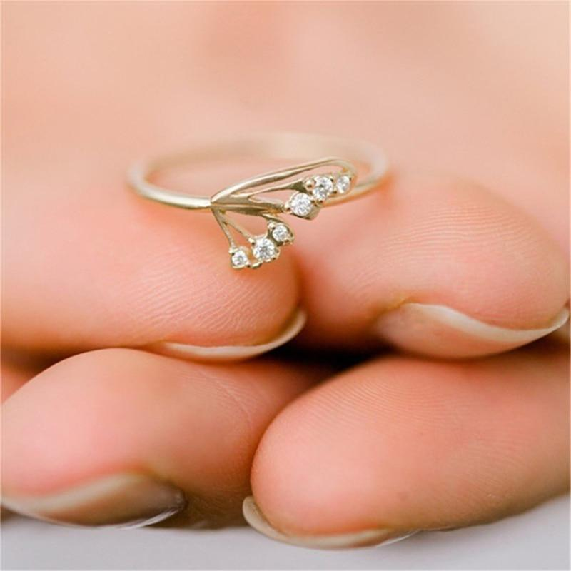 Dainty Engagement Ring