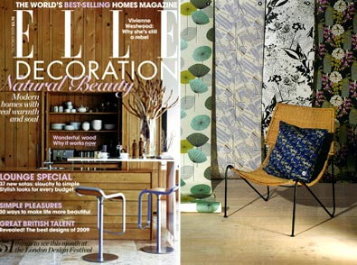 Dupenny is featured in Elle Decoration