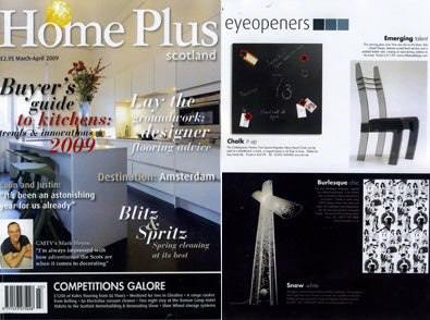 Dupenny is featured in Home Plus Magazine