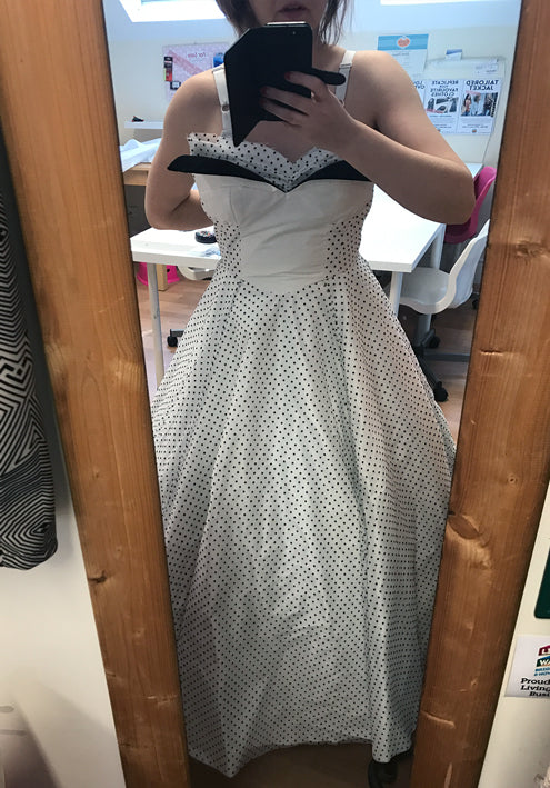 Trying on Dress