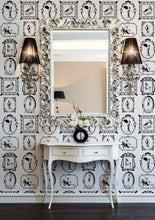 Load image into Gallery viewer, vintage 1920s themed wallpaper for art deco style interior design