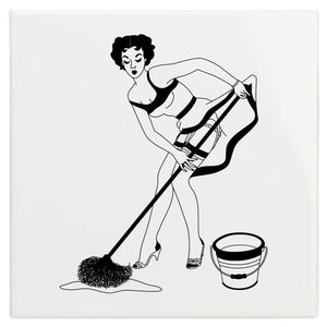 Dupenny 50s Housewives Wall Tile - Judith