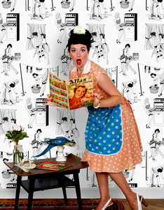 50s Housewives - Wallpaper Samples