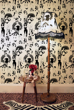 Load image into Gallery viewer, Dupenny's burlesque wallpaper is perfect for your boudoir