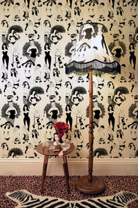 Dupenny's burlesque wallpaper is perfect for your boudoir