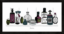 Load image into Gallery viewer, Art print of Victorian apothecary shelf with potions.
