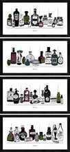 Load image into Gallery viewer, Set of four art prints of Victorian apothecary shelves with potions.