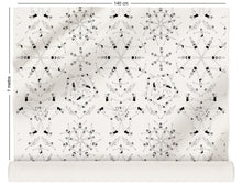 Load image into Gallery viewer, fabric roll with synchronised swimmer design in monochrome