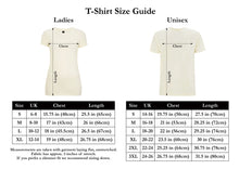 Load image into Gallery viewer, Dupenny Ladies T-Shirt Size Guide Pinup Rockabilly Womens Fashion