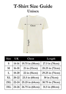 Dupenny Unisex T-Shirt Size Guide Pinup Rockabilly Mens Womens Fashion