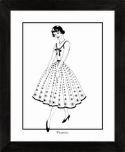 Load image into Gallery viewer, Vintage Dress (B&W) - Art Prints