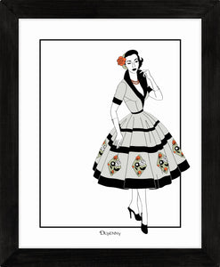 Vintage Dress (Colour) - Art Prints