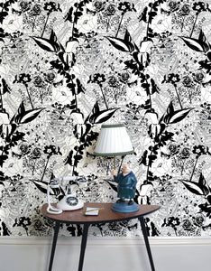 English Garden (B&W) - Wallpaper Samples