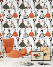 Load image into Gallery viewer, Vintage Dress (Colour) - Wallpaper Sample