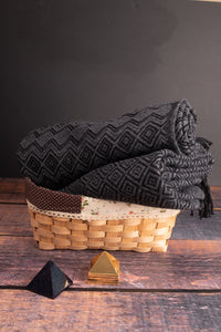 Charcoal and Grey Throw